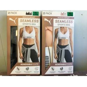 Puma Intimates & Sleepwear - Puma 2pk Women's sports Bra Seamless Removable Cup